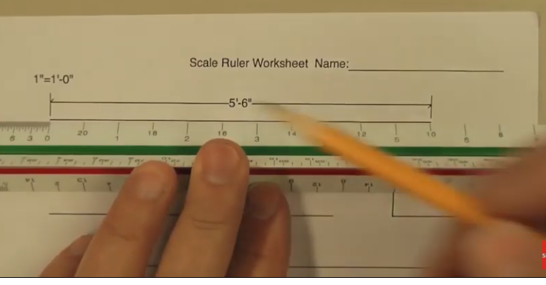 Scale Ruler, how to measure.